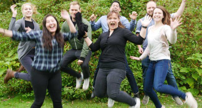 Gruppenfoto LivTox springt