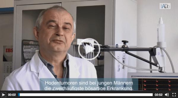 Themenwoche Hodenkrebs: Arbeitsmediziner im Erklärvideo