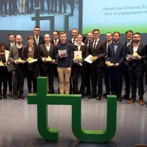 Preisträger des Dissertationspreis. Foto: Martina Hengesbach/TU Dortmund