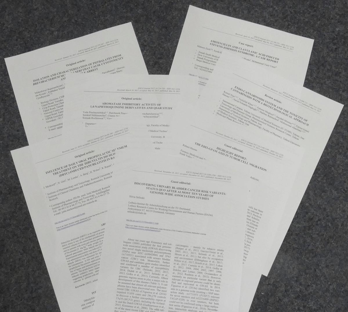 Diverse EXCLI-Paper.