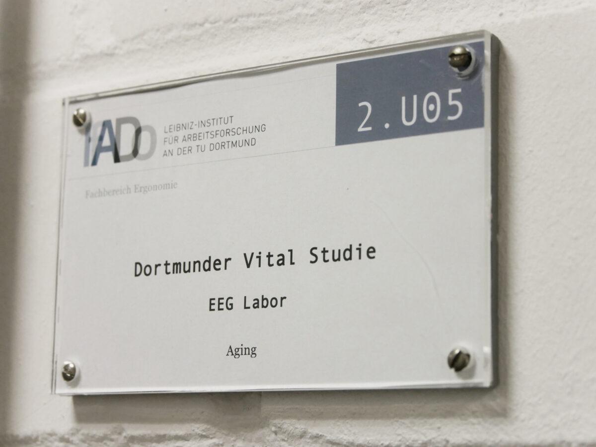 Türschild Dortmunder Vital-Studie