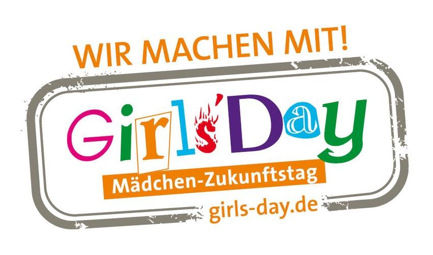 """Das Logo des GirlsDay mit der Aufschrift """"Wir machen mit""""."""